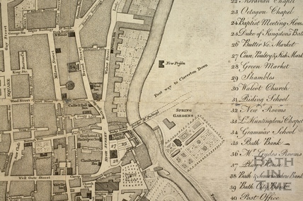 A New Plan of the City of Bath with the Additional Buildings to the present Time 1779 - detail
