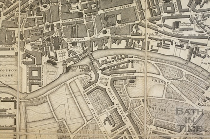A New and Accurate Plan of the City of Bath from a recent Survey 1825 - detail
