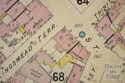 James Street West, Milk Street and Kingsmead Terrace, Bath 1936 - detail