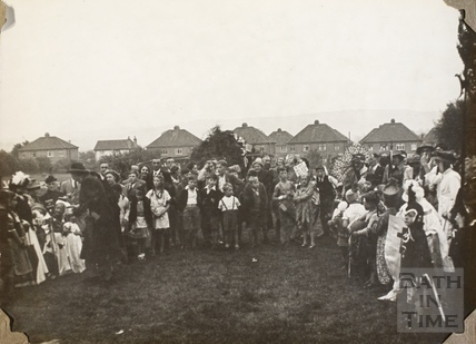 Fancy dress contestants, Charlton Park, Keynsham 1945