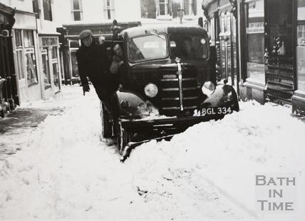 The winter of 1962-3, Upper Borough Walls, Bath
