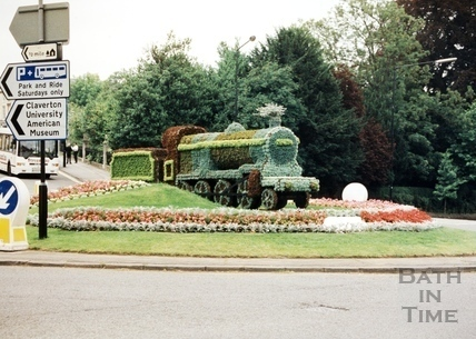 Bathwick Hill Roundabout, Bath in Bloom 1996