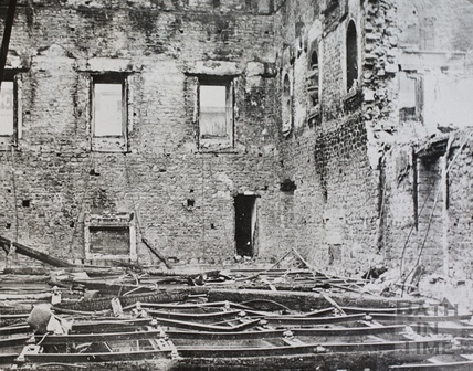 The Assembly Rooms, Bath after the bombing 1942
