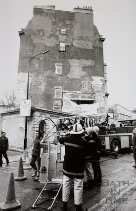 Storm Damage, Charlotte Street, Bath 1990