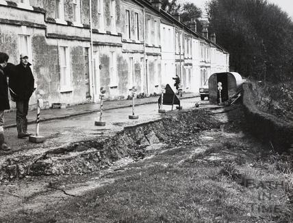 Landslip at Perfect View, Bath 1972