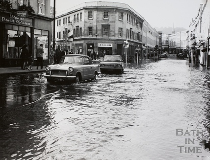 Floods in Southgate Street, Bath 1968