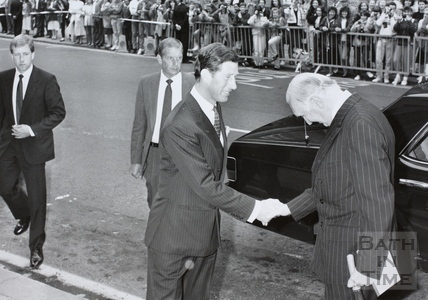Visit of HRH Prince Charles to the Bath Festival 1989