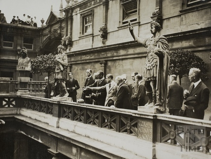HRH The Prince of Wales viewing the Roman Baths, Bath 1923