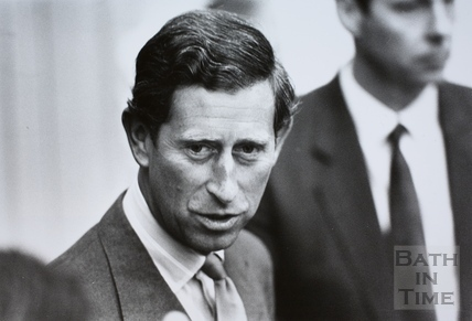 Prince Charles during visit to Bath 1992