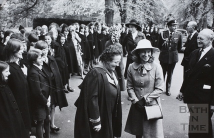 Visit of the Duchess of Gloucester to the Royal High School, Bath 1975