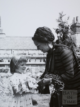 Princess Margaret at the New Bath YMCA 1973