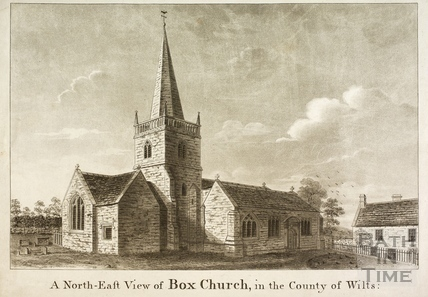 A North-East view of Box Church in the County of Wilts