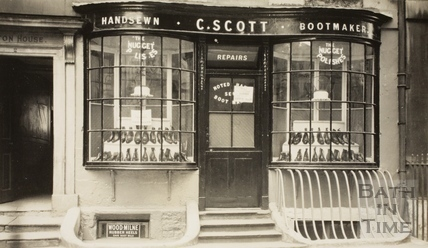 C. Scott, bootmaker, 2, Abbey Street, Bath c.1915