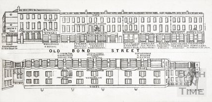 Street Panorama - Old Bond Street, Bath c.1840