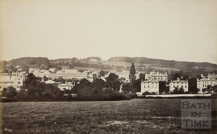 Sham Castle from Bathwick, Bath 1876