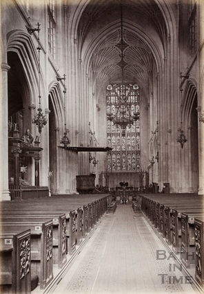 Bath Abbey, Nave East, Bath c.1890