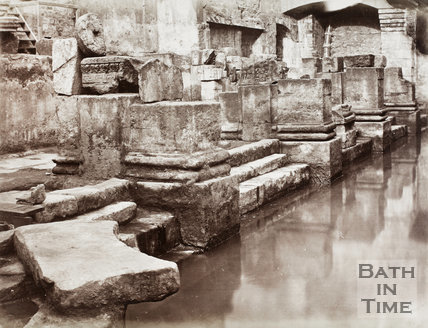 The newly discovered Great Roman Bath, Bath c.1880