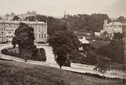 Cavendish Crescent, Bath 1876 - detail