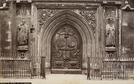 West Door, Bath Abbey, Bath 1874