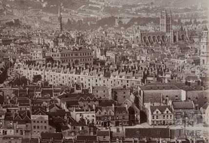 View from Beechen Cliff, Bath c.1870-1890 - detail