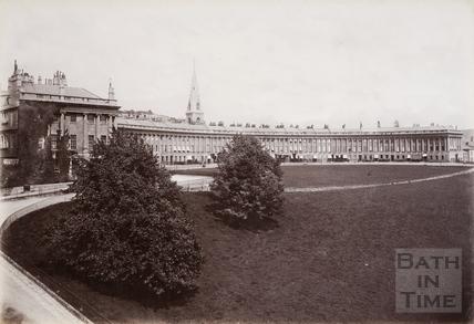 The Royal Crescent, Bath c.1890