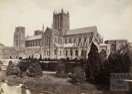 Wells Cathedral from the Bishop's Palace, Wells c.1870-1890