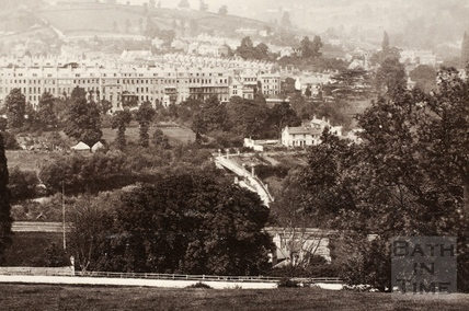 Larkhall and Grosvenor Place, Bath 1874 - detail