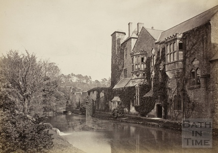 The Bishop's Palace and moat, Wells c.1870-1890