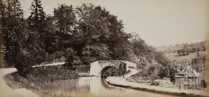 The Somersetshire Coal Canal at Tucking Mill near Midford c.1870