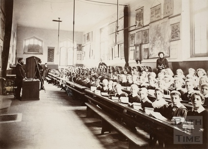 Classrooms in use, Twerton Parochial Schools, Twerton, Bath c.1900