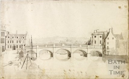Key Bridge or Old Bridge, Bath c.1755
