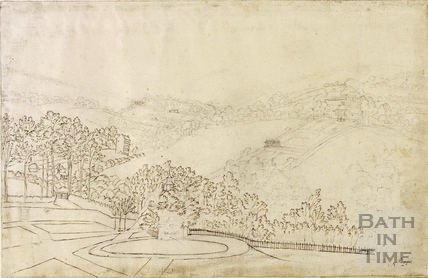 View towards the Pleasure Gardens of Lyncombe Spaw, Bath c.1760