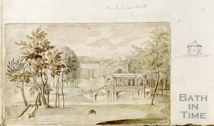View of Prior Park and the Palladian Bridge, Bath c.1740-1770