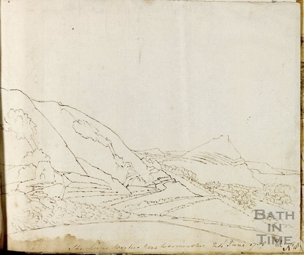 Cley Hill Lime works and Little Cley Hill near Warminster 1758