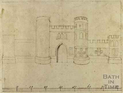Sham Castle, Bath c.1740-1770