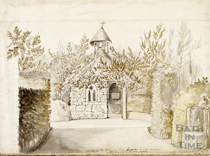 Jeremiah Peirce's Rustic Hermit's Cell, Lilliput Castle, Lansdown, Bath 1760