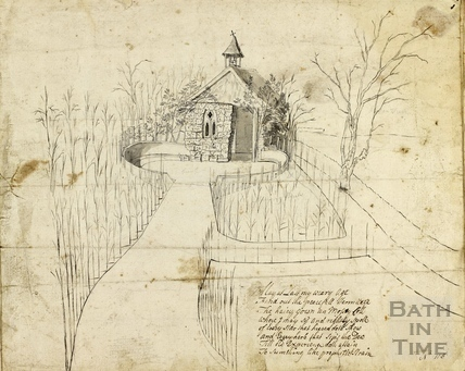 Jerry Peirce's Rustic Hermit's Cell, Lilliput Castle, Lansdown, Bath c.1758