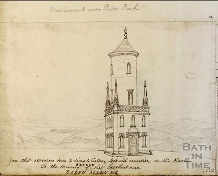 Ralph Allen's Monument, Combe Down, Bath c.1765