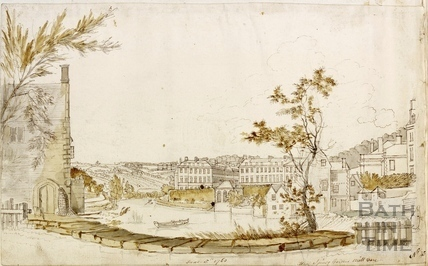 View from Spring Gardens Mill, Bath 1760