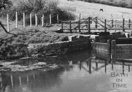 Downstream side of the swing bridge and stop gates, Kennet and Avon Canal, Bathampton