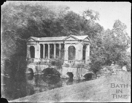 Palladian Bridge, Prior Park, Bath 1856