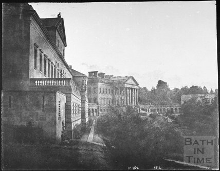 Prior Park mansion with west range, Bath 1856