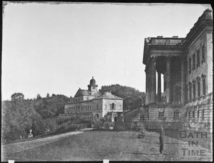 Prior Park mansion steps with east range, Bath 1856