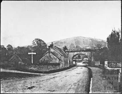 Bradford Road and London Road junction, Bathford 1853