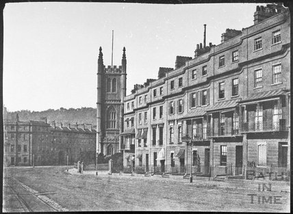 Raby Place and St. Mary's Church, Bathwick, Bath 1853/58