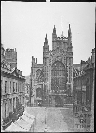 Bath Abbey and Abbey Church Yard, Bath 1856