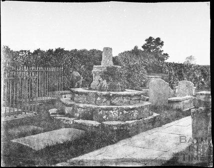 Cross in churchyard, Newton St. Loe c.1855