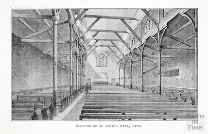 Interior of St. James's Hall, Kingston Road, Bath c.1880