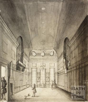 Wiltshire's Long Room at Bath c.1750