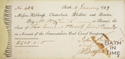 Cheque paid to William Smith 4th January 1799